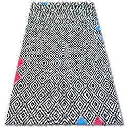 Carpet COLOR 19306/236 Diamonds Squares Black