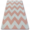 Carpet SKETCH - FA66 pink/cream - Zigzag