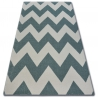 Carpet SKETCH - FA66 turquoise/cream - Zigzag