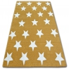 Carpet SKETCH - FA68 gold/cream - Stars
