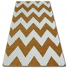 Carpet SKETCH - FA66 gold/cream - Zigzag