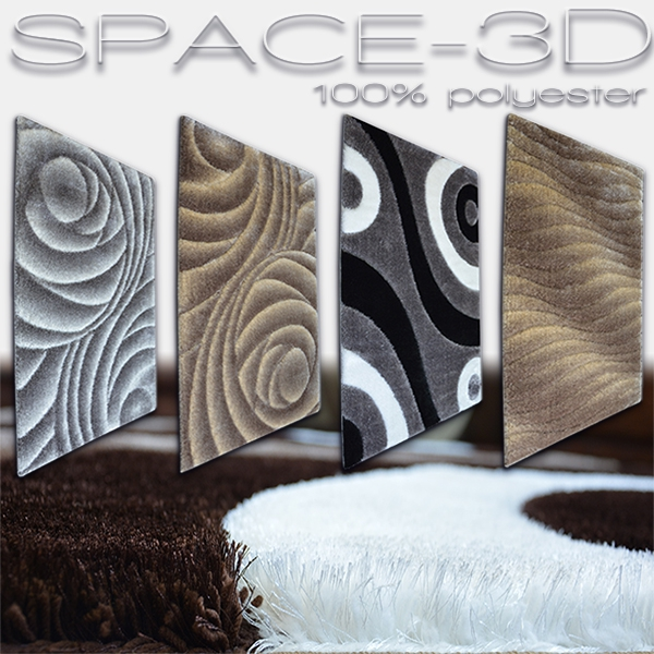 Rugs polyester shaggy Space 3D