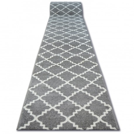 Runner SKETCH F343 grey /white trellis