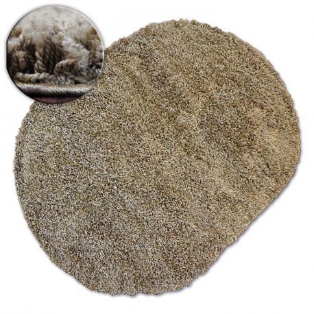 Carpet oval SHAGGY GALAXY 9000 light brown