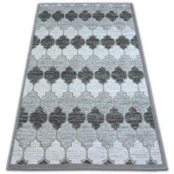 Carpet ACRYLIC YAZZ 3766 Grey/Ivory Trellis