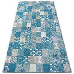 Carpet LISBOA 27218/454 Squares Plates Turquoise Portugal