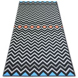 Carpet COLOR 19309/839 SISAL Zigzag Black
