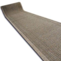 Runner anti-slip AZTEC 66 cm light brown