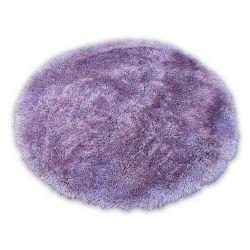 Carpet LOVE SHAGGY circle design 93600  lila