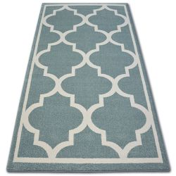 Carpet SKETCH - F730 turquoise/white trellis