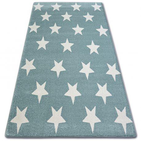 Carpet SKETCH - FA68 turquoise/cream - Stars