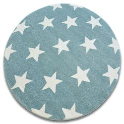 Carpet SKETCH circle - FA68 turquoise/cream - Stars