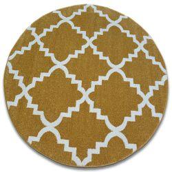 Carpet SKETCH circle - F343 gold/cream trellis
