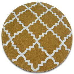 Carpet SKETCH circle - F343 gold/cream trellis