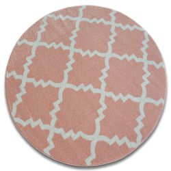 Carpet SKETCH circle - F343 pink/cream trellis
