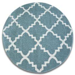 Carpet SKETCH circle - F343 turquoise/cream trellis