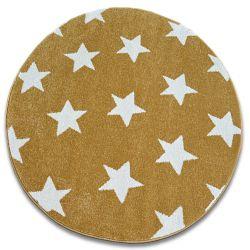 Carpet SKETCH circle - FA68 gold/cream - Stars