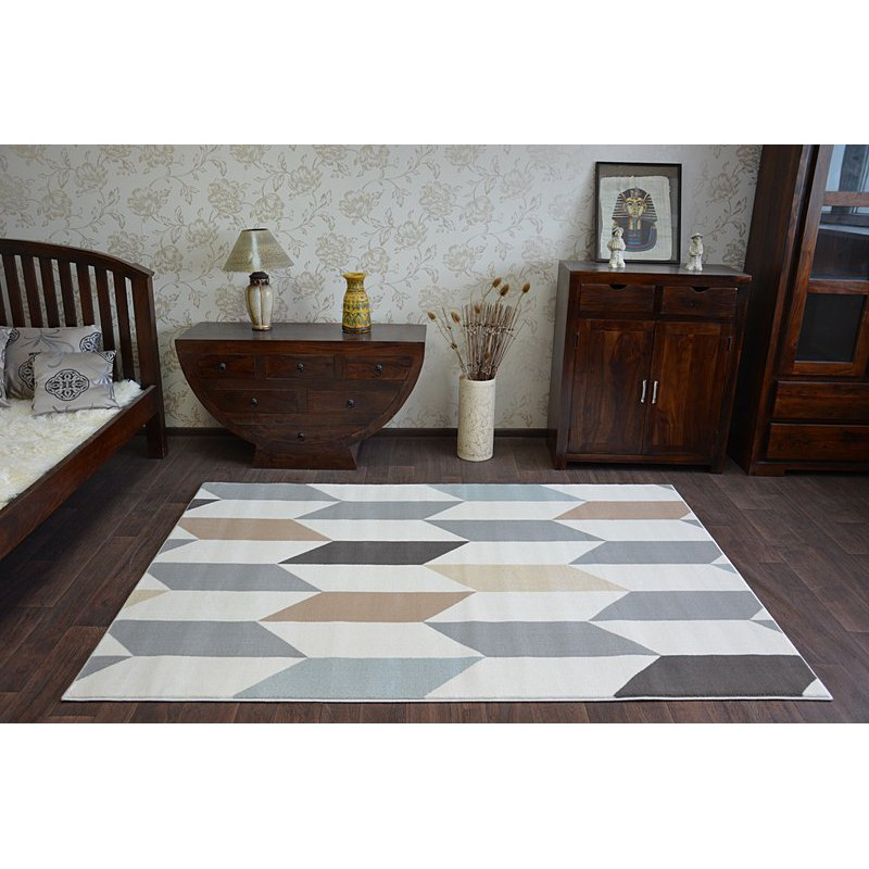 Carpet Argent W4937 Diamonds Cream