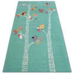 Carpet PASTEL 18405/043 - BIRDS green