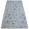 Carpet for kids HAPPY TREE grey Owls Animals