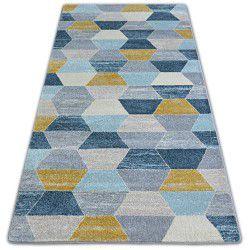 Carpet NORDIC HEXAGON grey/blue G4596