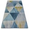 Dywan NORDIC TRIANGLE niebieski/krem G4584