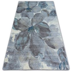 Carpet NORDIC FLOWERS grey/brown FD291