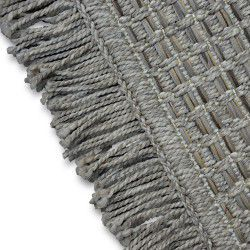 Carpet BOHO 46215/051 SISAL - beige checkered tassels