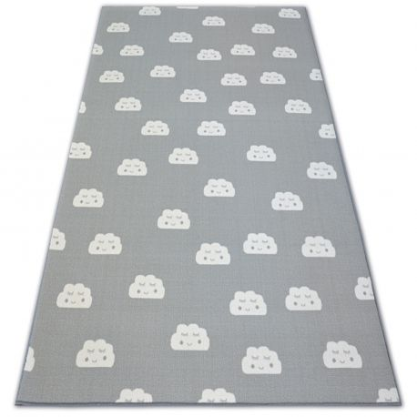 Anti-slip Carpet wall-to-wall for kids CLOUDS grey