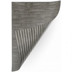 Carpet DOUBLE 29211/195 STRIPES graphite/beige / MELANGE graphite double-sided