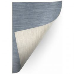 Carpet DOUBLE 29201/35 blue melange/melange beige double-sided