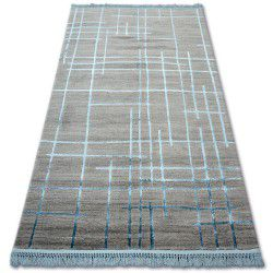Carpet ACRYLIC MANYAS 191AA Grey/Blue fringe
