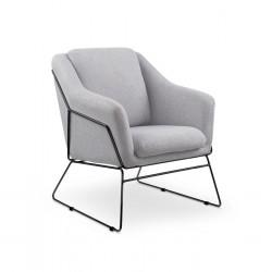 Armchair SOFT 2 light grey