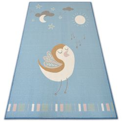 Carpet for kids LOKO Bird blue anti-slip
