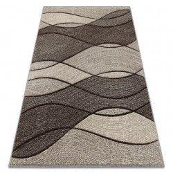 Carpet FEEL 5675/15011 WAVES grey / anthracite / cream