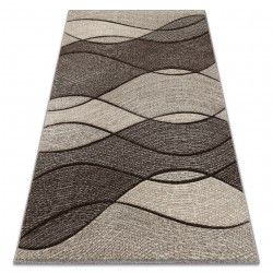 Carpet FEEL 5675/15011 WAVES grey / anthracite / cream