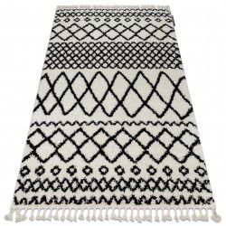 Carpet BERBER SAFI N9040 white / black Fringe Berber Moroccan