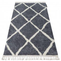 Carpet BERBER CROSS B5950 grey / white Fringe Berber Moroccan shaggy