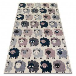 Carpet HEOS 78468 cream / pink / blue / grey SHEEPS
