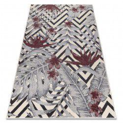 Carpet HEOS 78540 cream / claret LEAVES JUNGLE