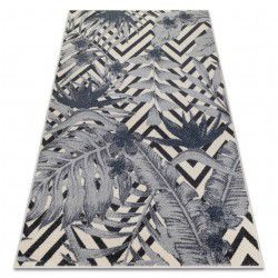 Carpet HEOS 78540 cream / blue LEAVES JUNGLE