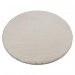 Carpet BUNNY circle beige IMITATION OF RABBIT FUR