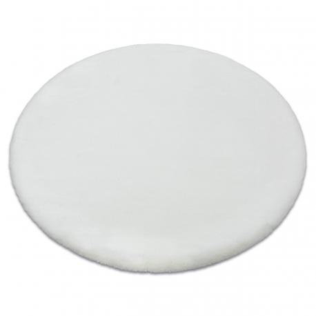 Carpet BUNNY circle white IMITATION OF RABBIT FUR