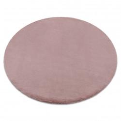 Carpet BUNNY circle pink IMITATION OF RABBIT FUR