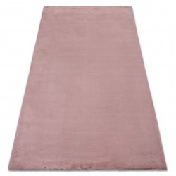 Carpet BUNNY pink IMITATION OF RABBIT FUR