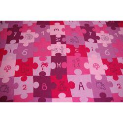 Children carpet PUZZLE purple