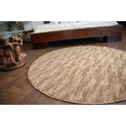 Carpet circle NEW WAVES dark beige