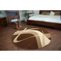 Carpet caramel round BROWN brown