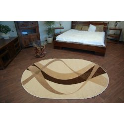 Carpet caramel oval BROWN cream