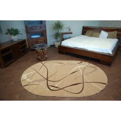 Carpet caramel oval CHOCO beige
